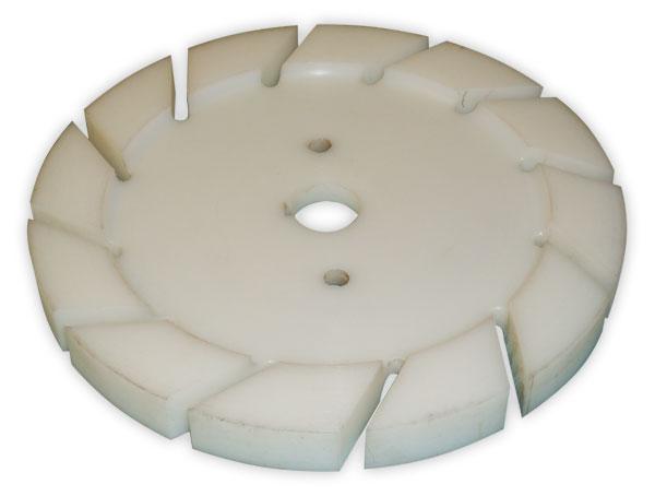 Disco dispersor para tintas mal fabricados em plastico