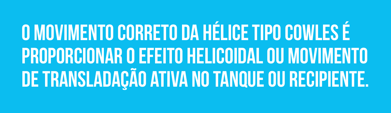 Movimento helicoidal de transladação da hélice cowles