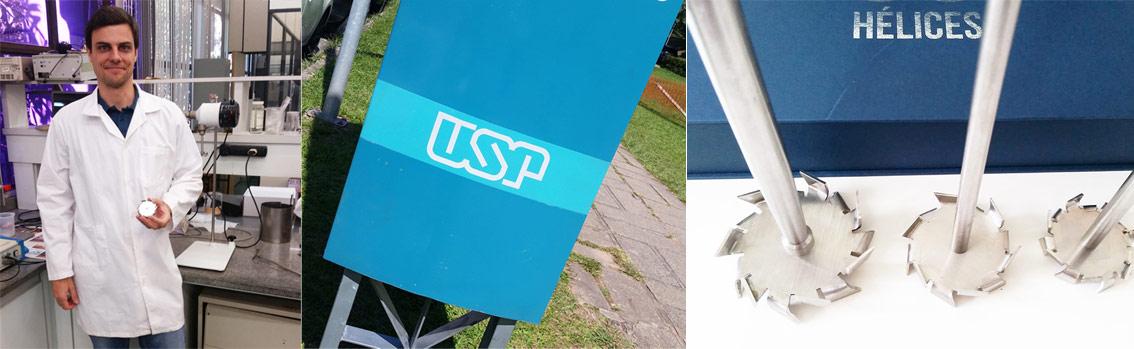 Agitador mecânico na USP