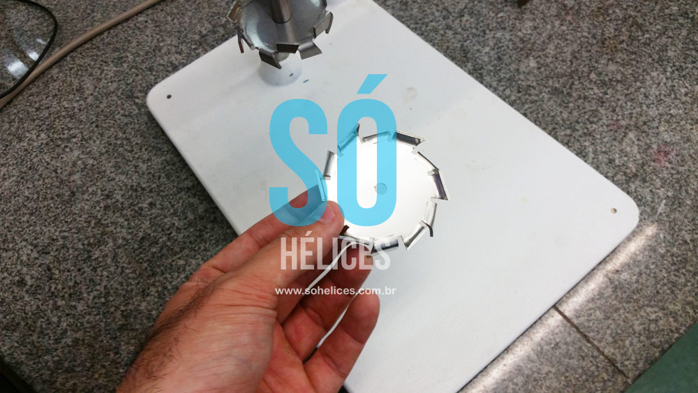 Hélice dispersora de laboratório com 50mm