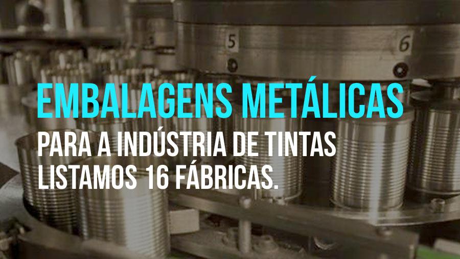 16 fábricas de embalagens metálicas para tintas