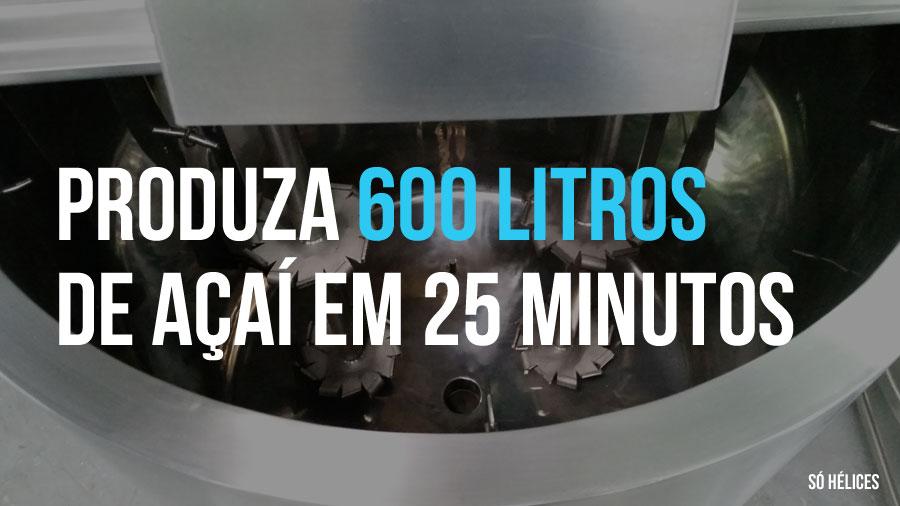 Produza 600 litros de açaí ou cupuaçu em 25 litros