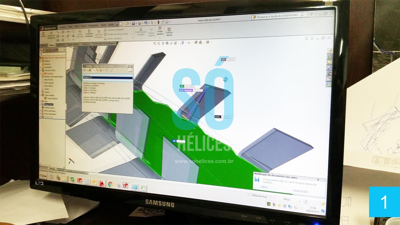 Software para fabricação de hélices dispersoras e misturadoras