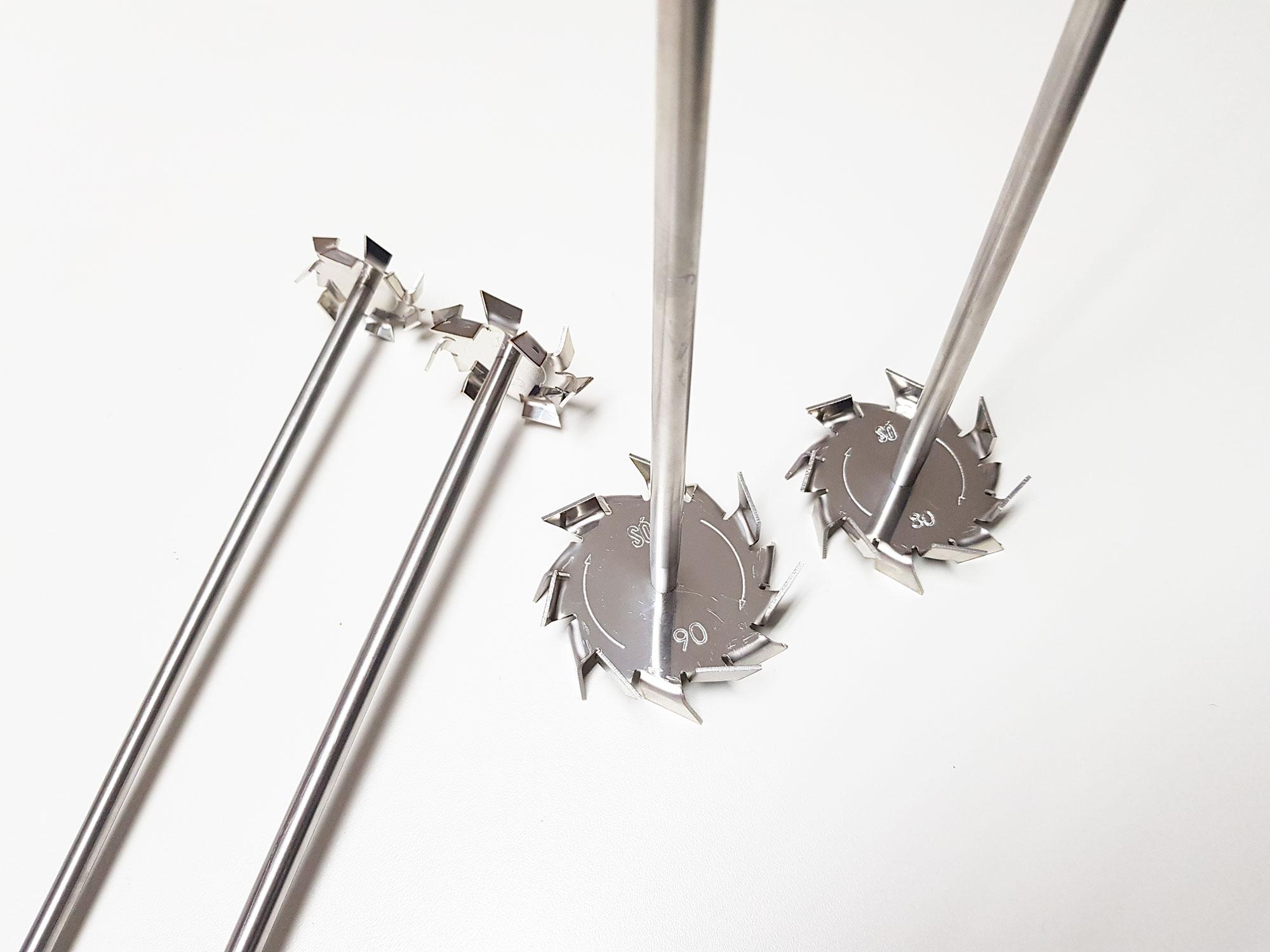Hélices para misturadores de laboratório de 50ml até 20 litros