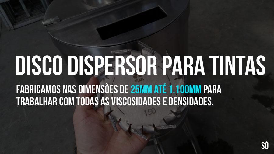 Disco dispersor para tintas