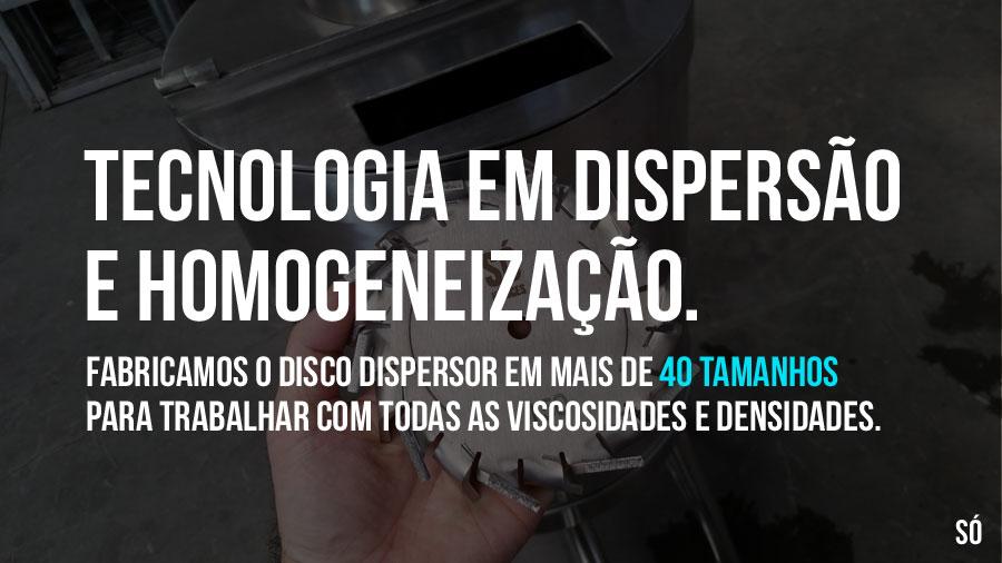 Tecnologia na fabricação de disco dispersor