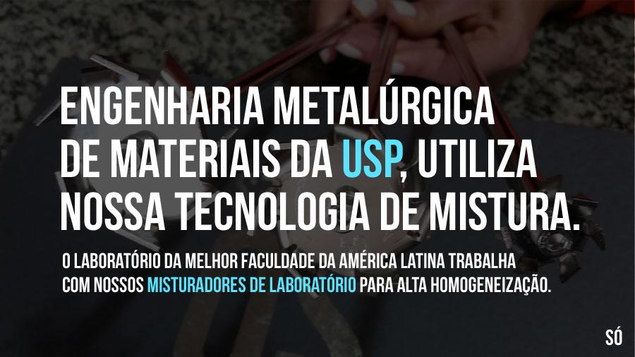 Misturadores de laboratório para engenharia da USP.