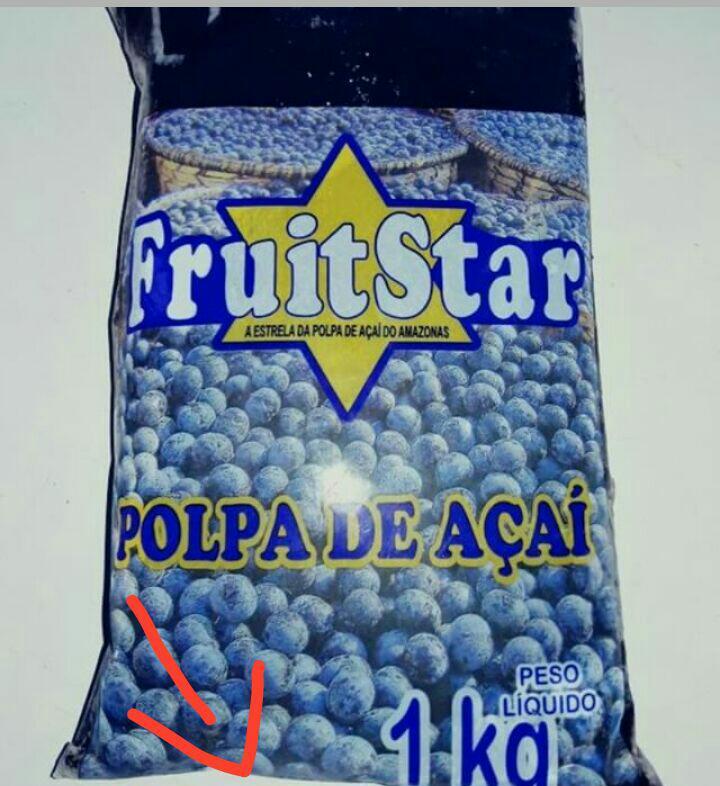 Polpa de Açaí 1 Quilo - FruitStar