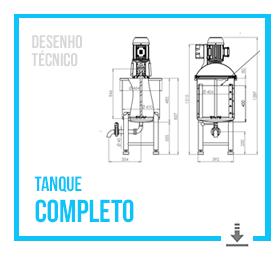 Desenho Técnico Completo do Tanque Misturador