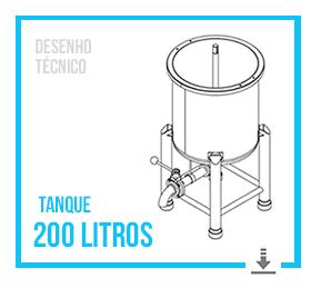 Desenho Técnico do Tanque Misturador 200 Litros