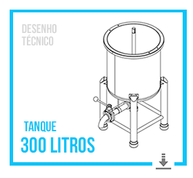 Desenho Técnico do Tanque Misturador 300 Litros