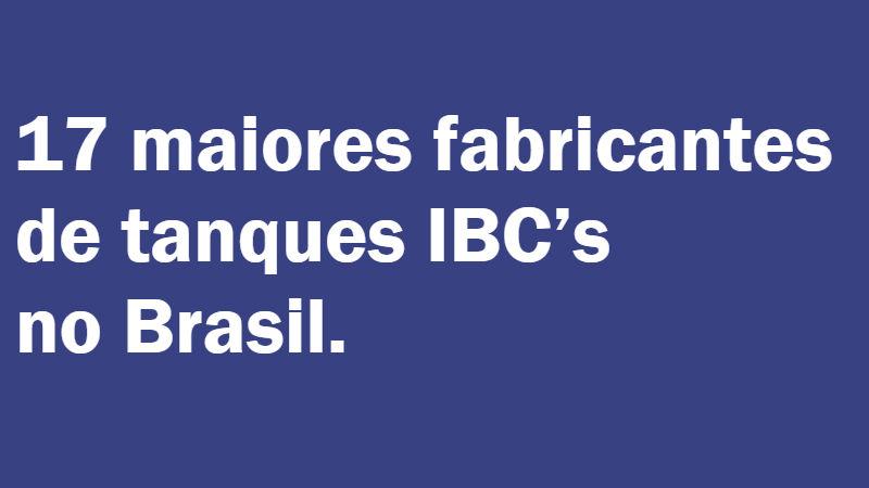 fabricantes de tanques ibc