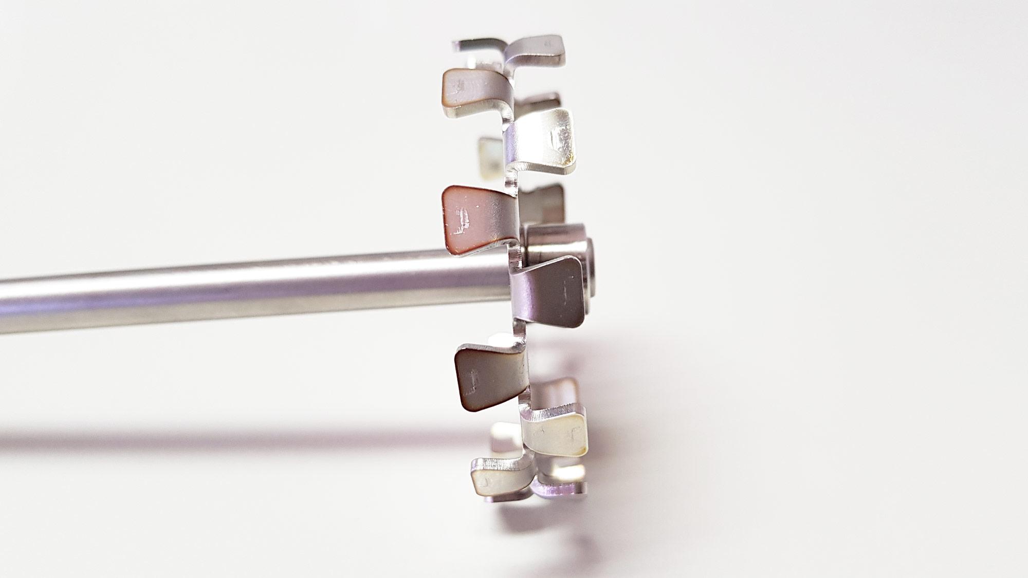 Helice centrifuga ou dentada para agitadores de laboratório