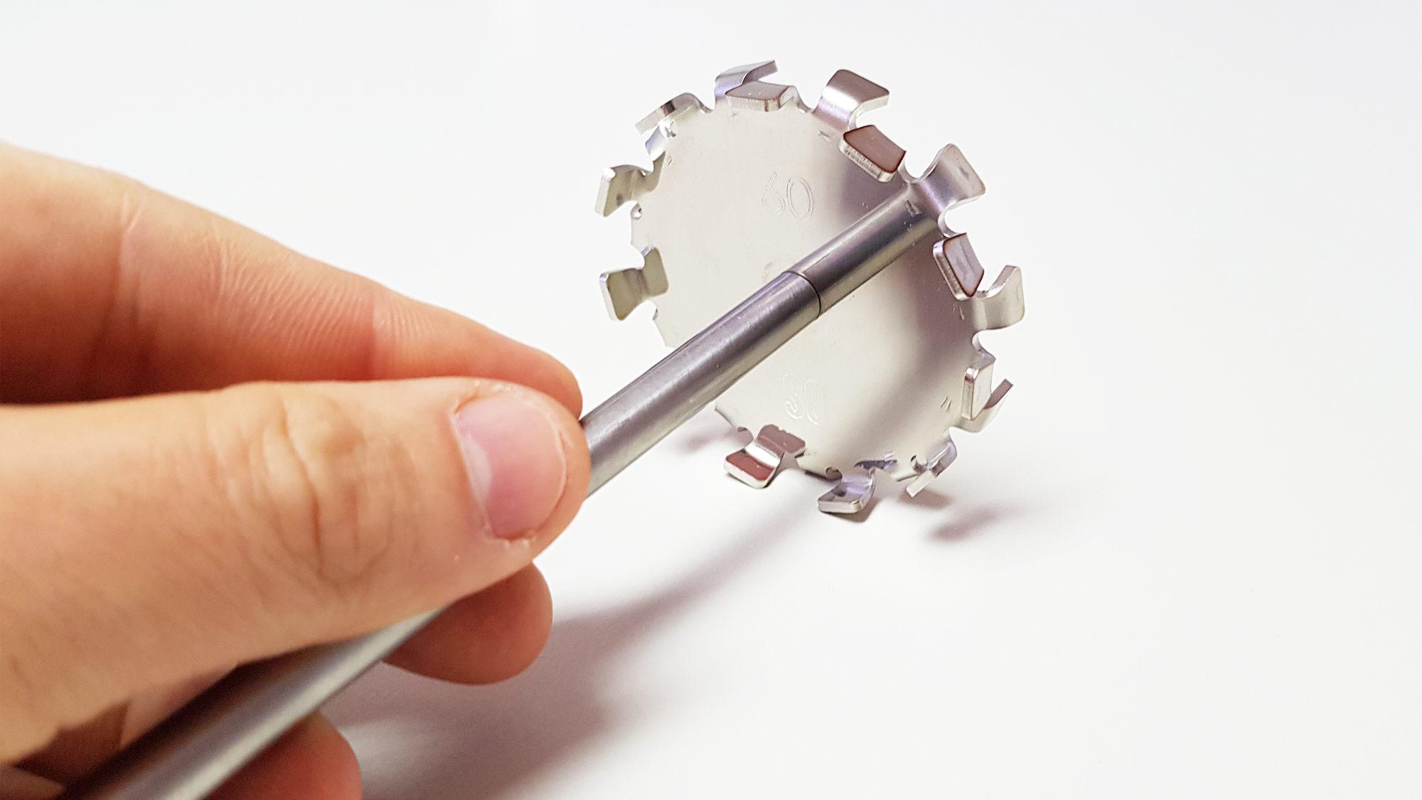 Heélice centrifuga para misturadores de laboratório