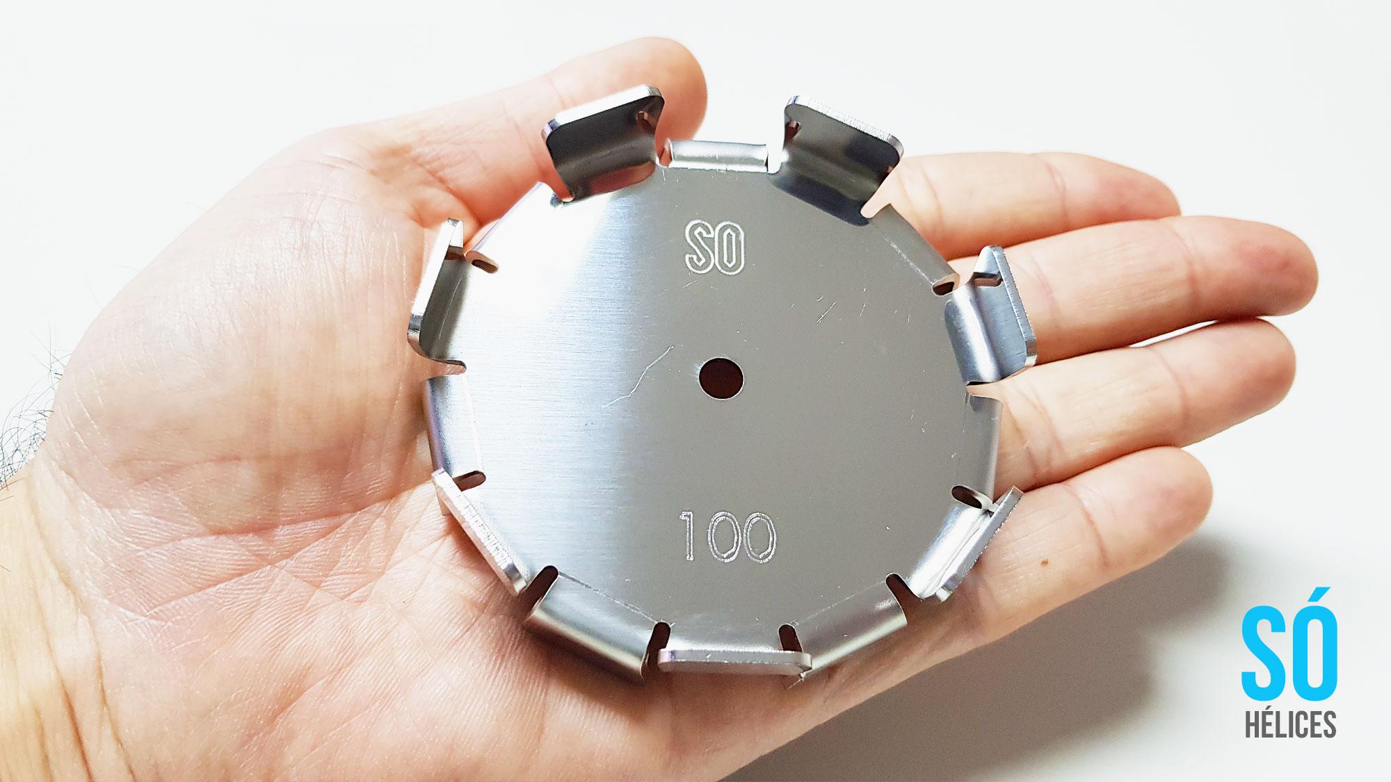 Misturador de Laboratório com hélice centrífuga aço inox 316
