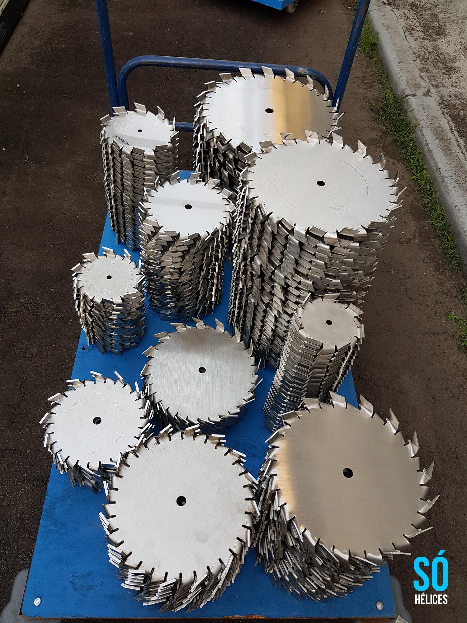 Disco dispersor de tintas em aço inox 304 e 3016L