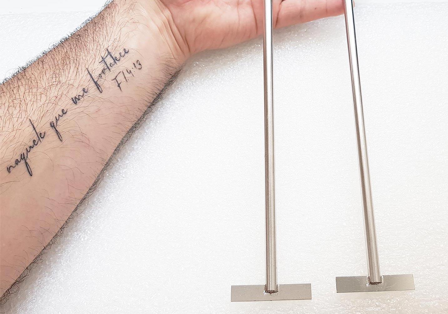 Agitador de laboratório com 2 pás retas
