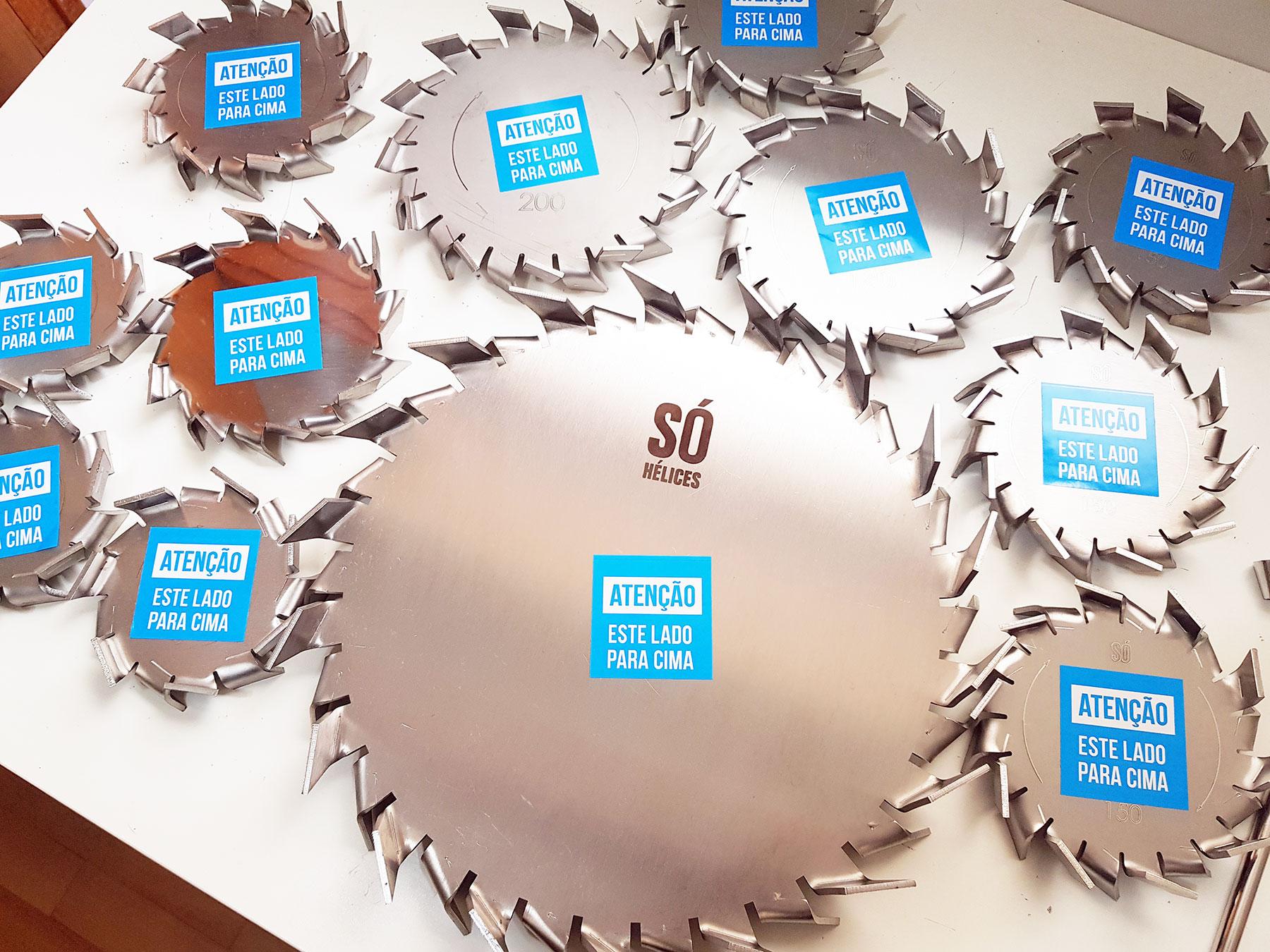 Disco dispersor de tintas em aço inox em diferentes tamanhos