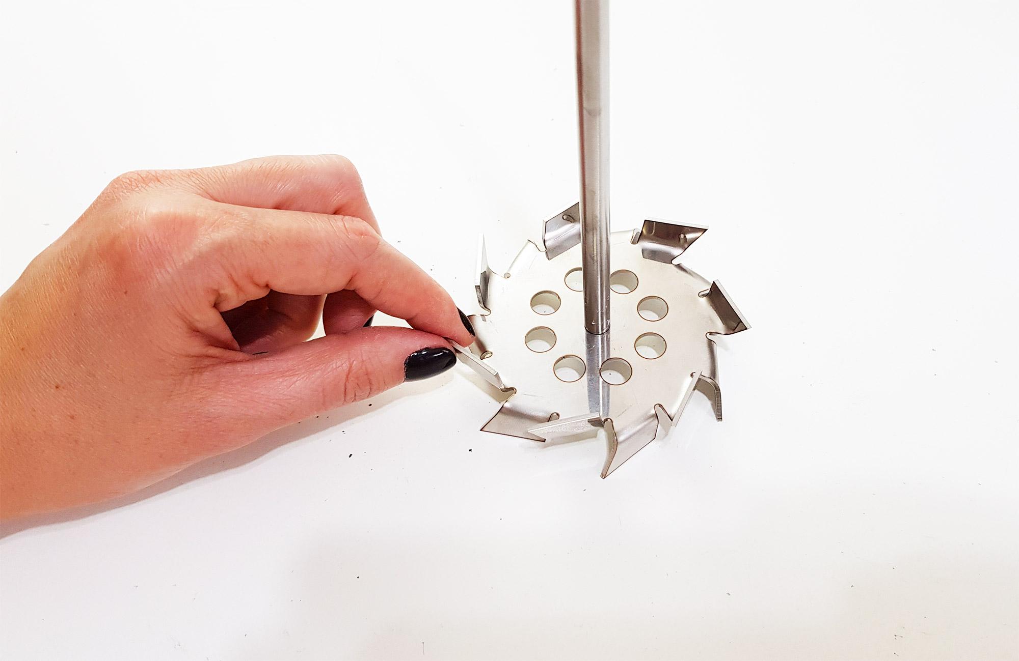 Agitador mecânico de bancada para laboratório