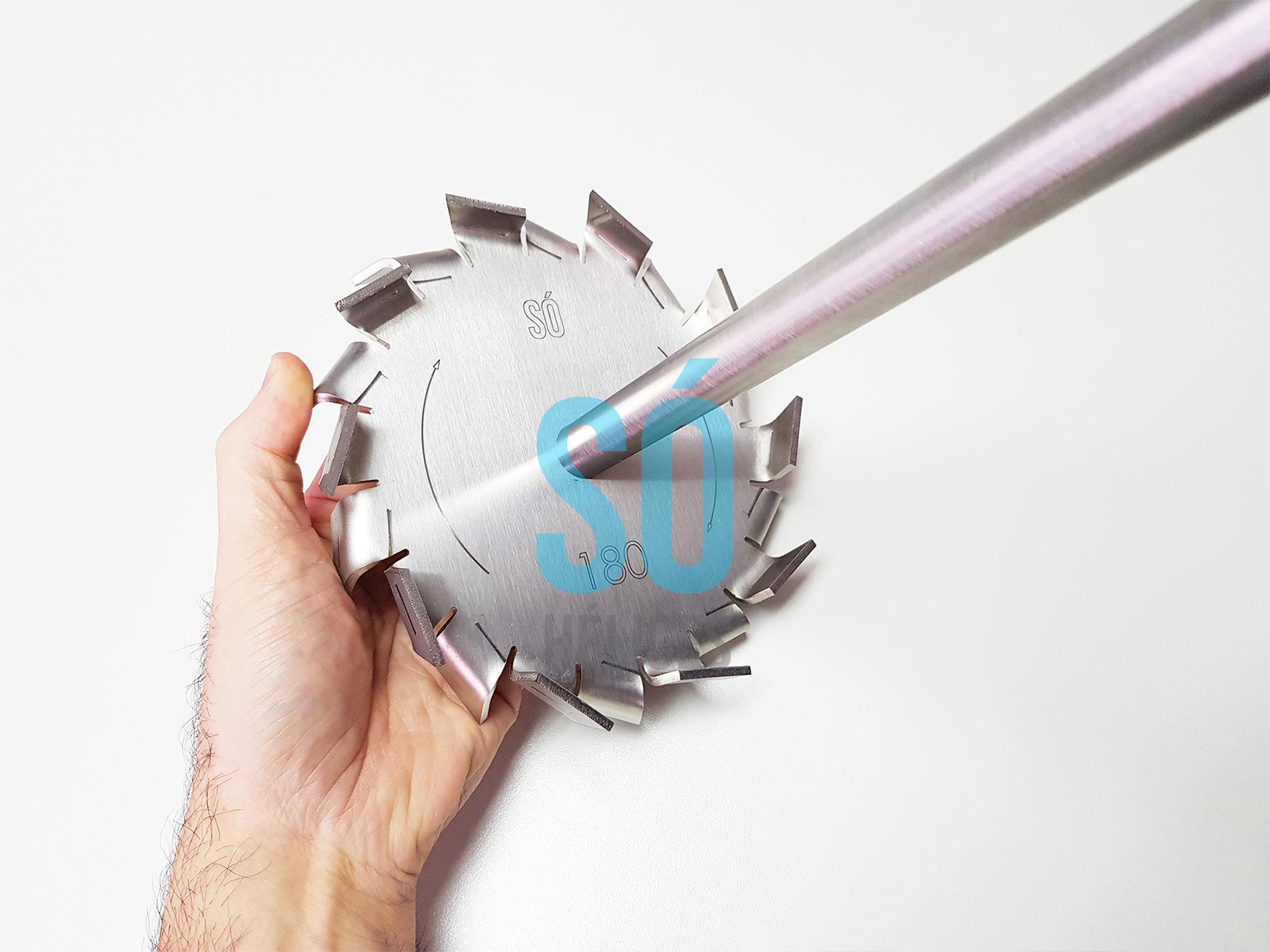 Misturador para tambores de metal de 200 litros