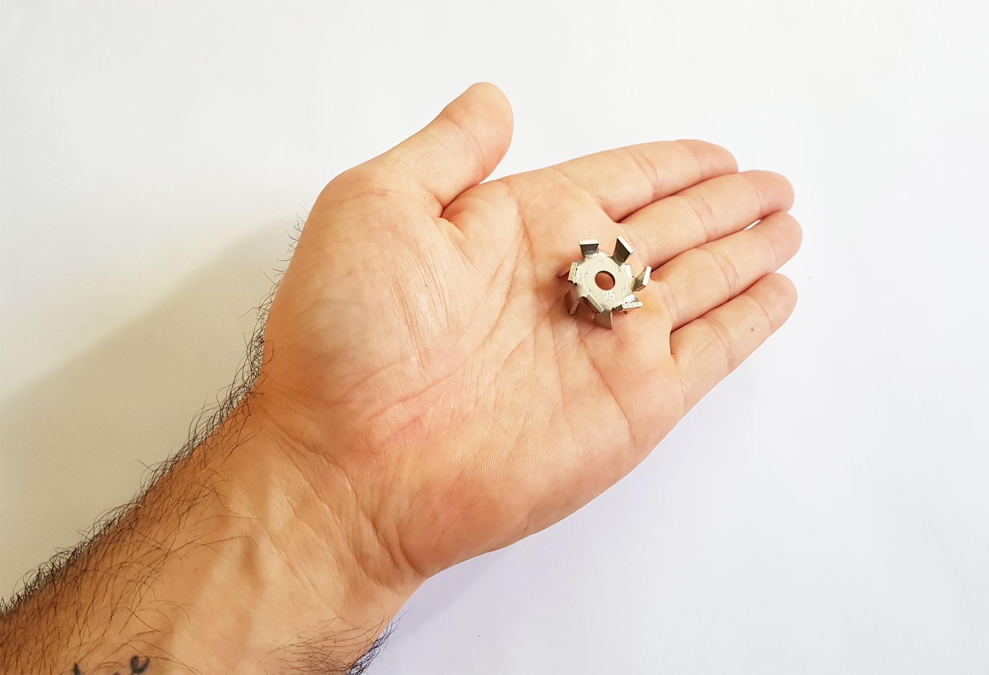 Fabricamos o menor disco caules do Brasil