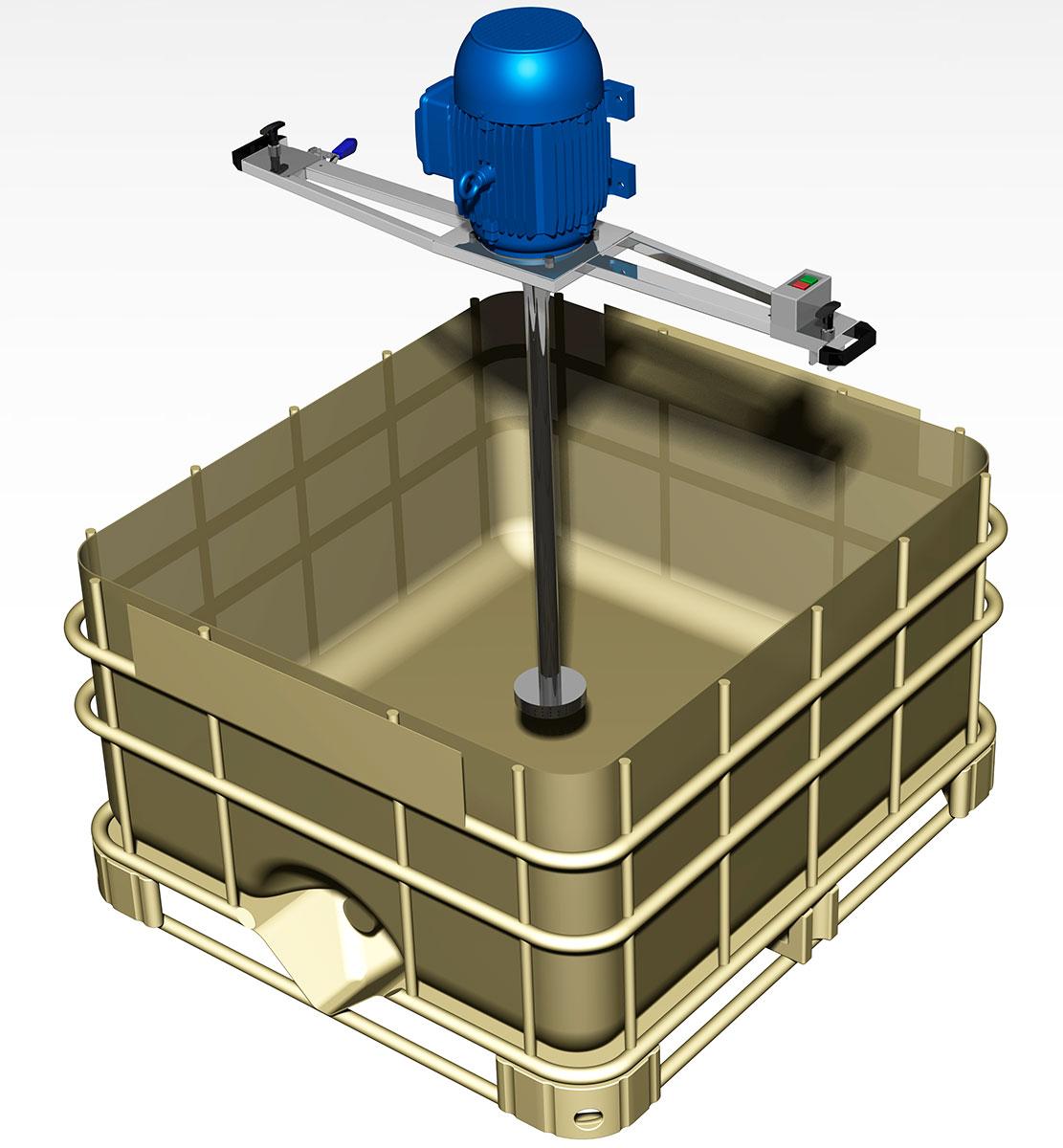 IBC Container 1000 Litros misturador