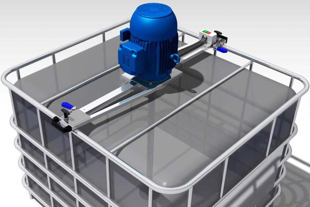 Misturador para IBC Container de 1.000 Litros