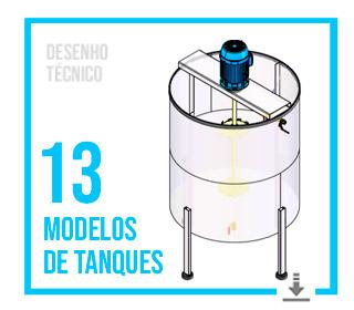 Download desenho técnico de tanques misturadores