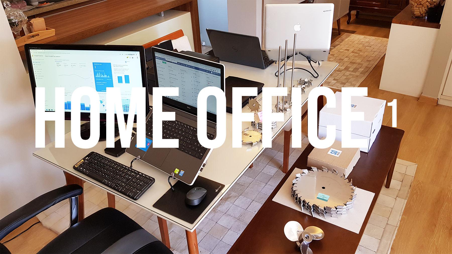 Home office com a equipe do escritório da Só Hélices