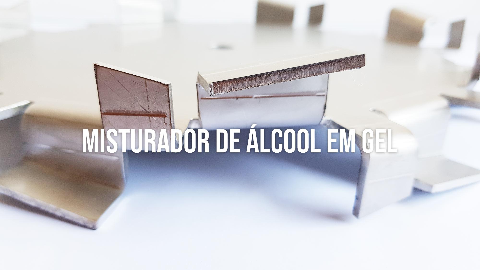 Misturador de álcool gel e carbopol