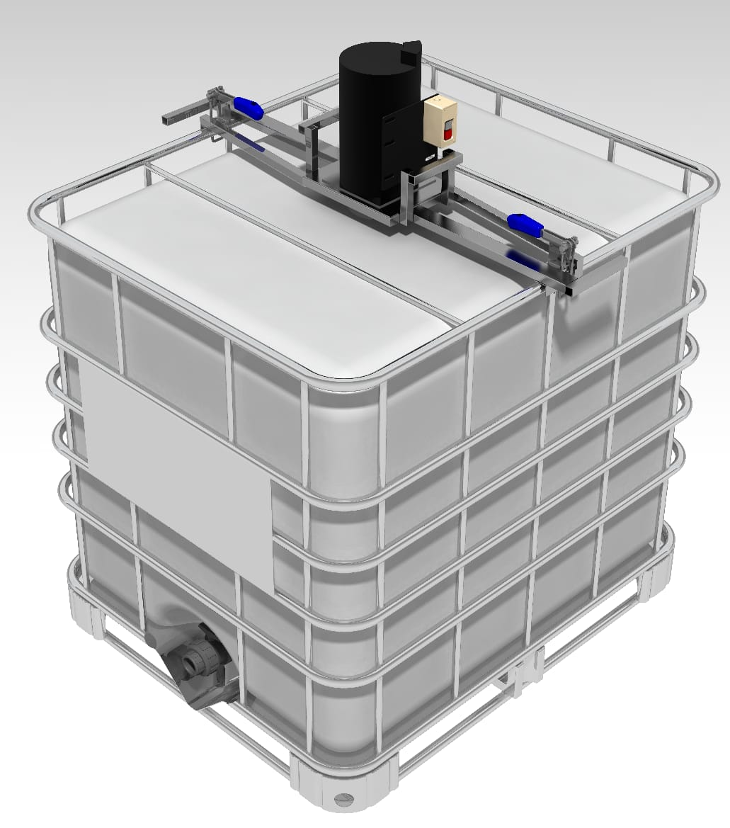 Agitador Container 1000 Litros IBC