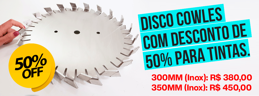 Disco Cowles para dispersao de tintas